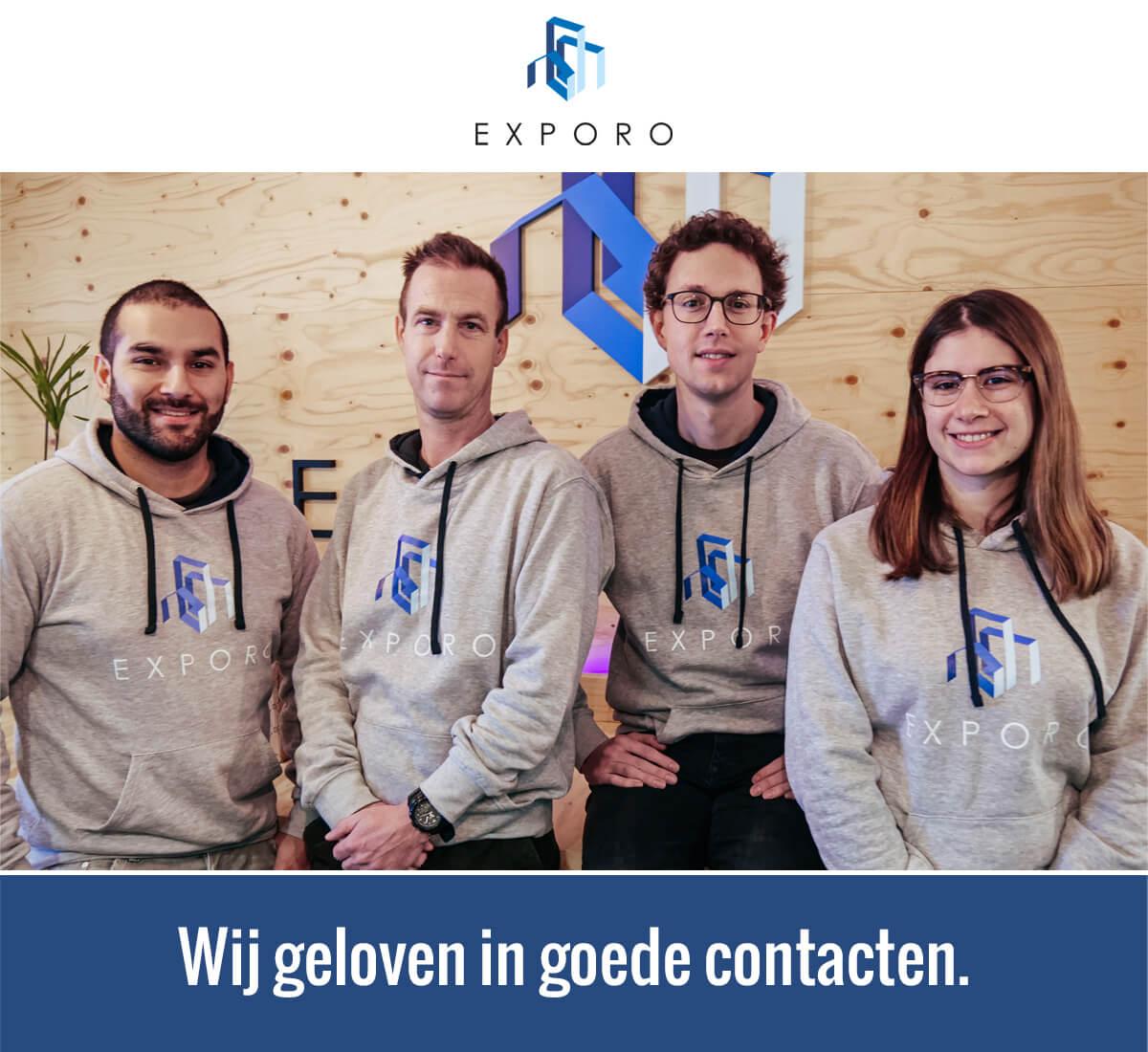 Uw Exporo klantenservice team